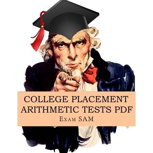 College Placement Arithmetic Practice Test PDF
